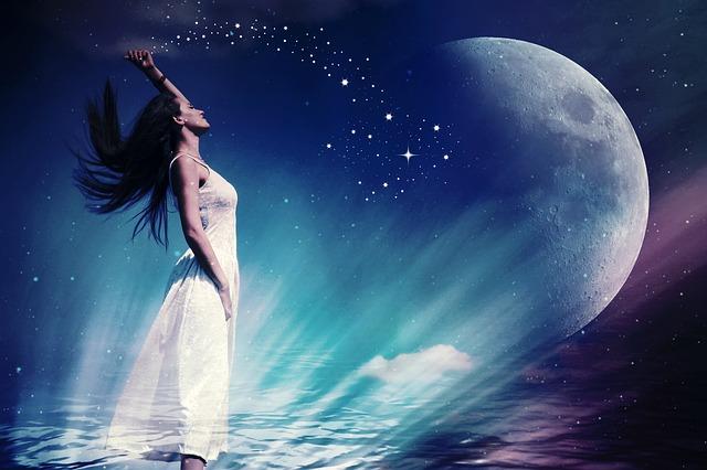 A Hold és a Nő illusztráció