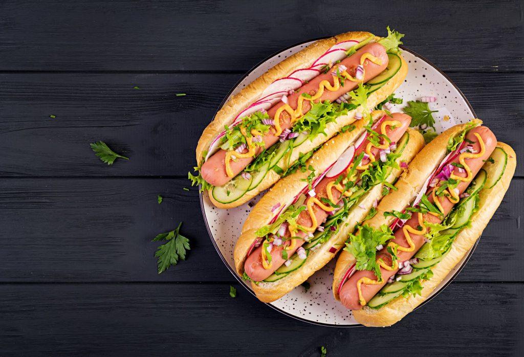 hotdog mustárral