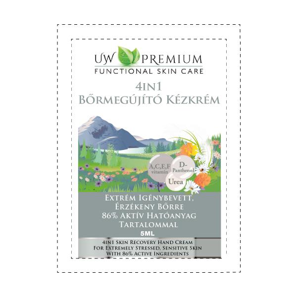 UW Premium 4in1 Bőrmegújító Kézkrém 5 ml